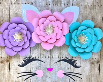 Cat Backdrop DIY Kitty Party Decorations Kitten Pretty Face Birthday