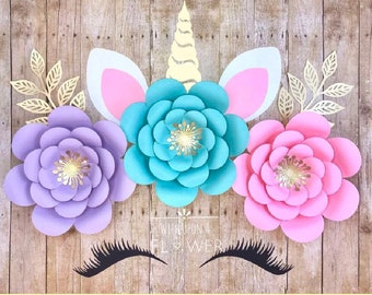 Unicorn Flower DIY Birthday Party Backdrop Decorations Baby Shower
