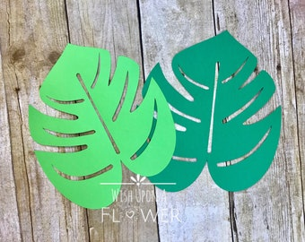 large leaf templates etsy