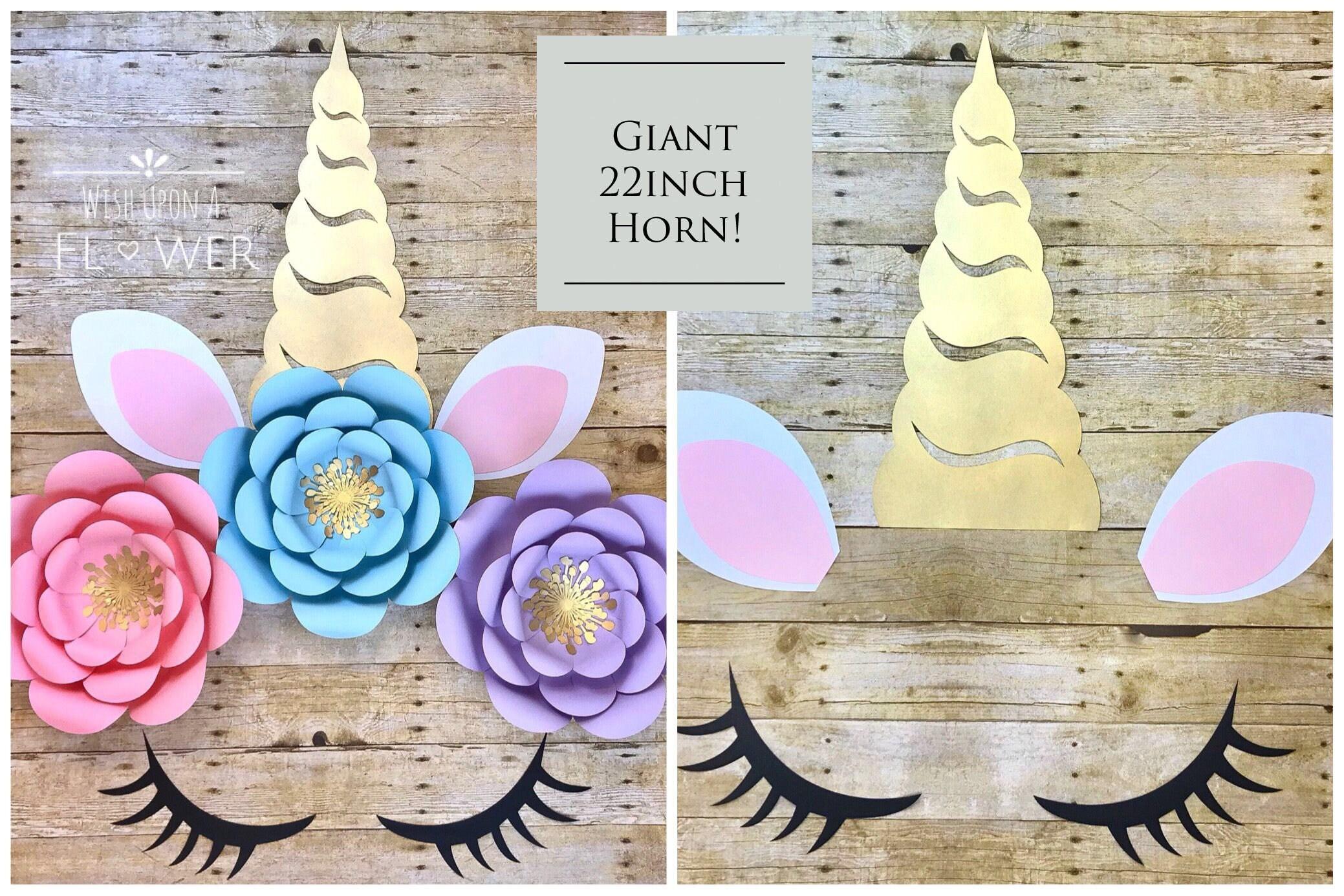 Unicorn Party Unicorn Backdrop Unicorn Paper Flower Set Etsy