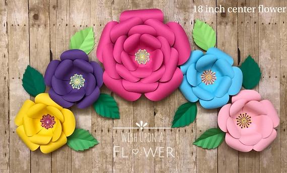 Moana inspired backdrop moana paper flower backdrop party etsy image 0 mightylinksfo