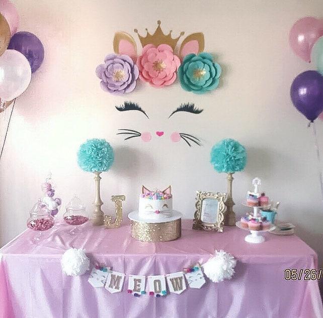 Kitty Party Cat Decorations Kitten Pretty Face Birthday Invitation