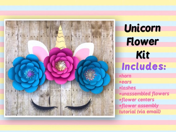 Unicorn Flower Diy Unicorn Decorations Unicorn Party Etsy