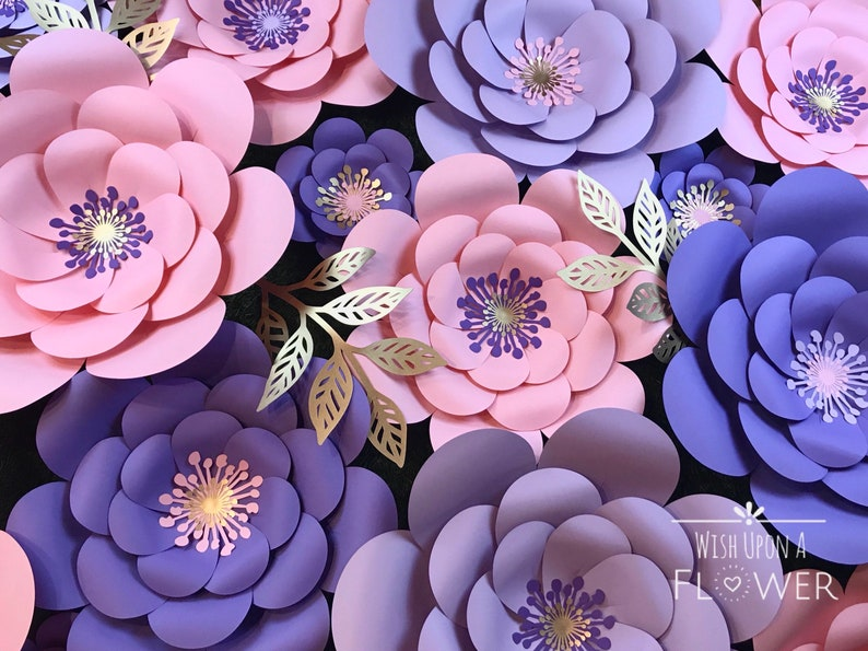 Paper Flower Kit Paper Flowers Diy Paper Flower Template Paper Flowers Wall Decor Diy Paper Flowers Paper Flower Wall Decor