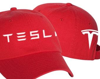 4b6cbc2a Tesla Hat, Tesla Motors Hat, Tesla Adjustable Twill Vinyl Cap Hat ***  Shipped In Box***