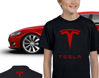 a72fa0a3 Tesla Youth Shirt, Tesla Motors Youth Tee Shirt, Tesla High Quality Unisex  Youth T-Shirt