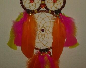 Sunset Owl Dreamcatcher