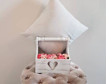Light grey sparkly cushion cover