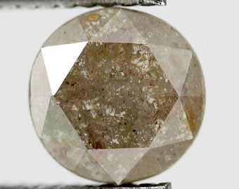 0.91 CT Emerald Shape Polished Back Fancy Reddish Loose Rustic Salt and Pepper Conflict Free Diamond perfect for Vintage Diamond Ring