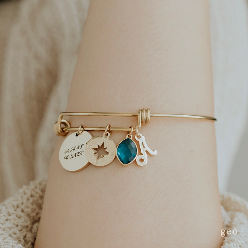 Choose Your Charm Bracelet Design Your Own Personalized Gifts for Mom Stack Charm Bangle Birthday Gifts For Her Stack Bracelet Mothers Day