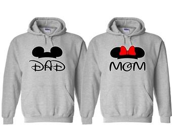 Dad and Mom Couple Hoodie, Dad Hoodie, Mom Hoodie, Matching Couple Hoodie, Couple Hoodies, Dad and Mom Hoodie
