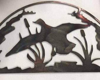 Handmade Flying Mallard Wall Decoration