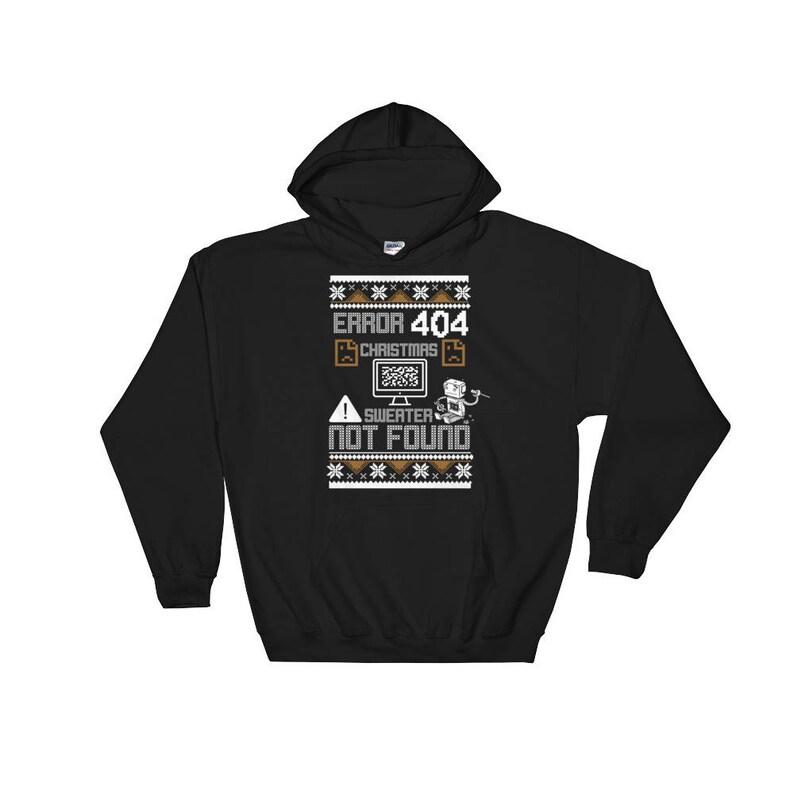Ugly Sweater Not Found Error 404 Computer Funny Christmas Sweatshirt