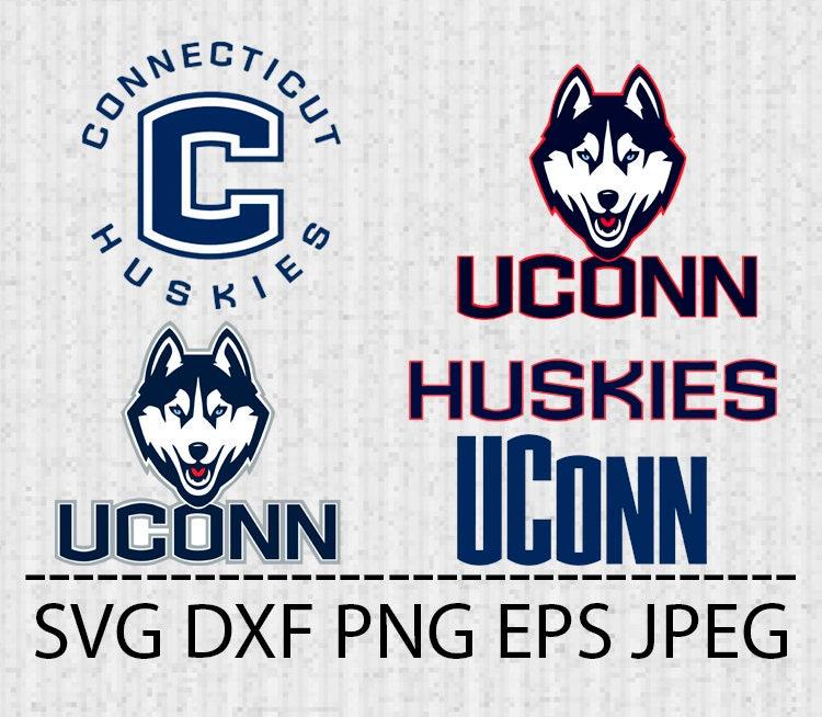 Svg Uconn Huskies Logo Vector Layered Cut File Silhouette Etsy