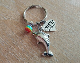 Dolphin Metal Bottle Opener Keyring Keychain Keyfob surfer sea *Choose Colour*