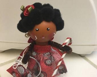 Unique multi-ethnic clothespin doll