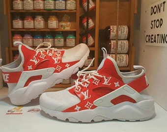 timeless design bc85c 28179 Custom Supreme x LV Louis Vuitton inspired Nike Huarache (any sizecolor)