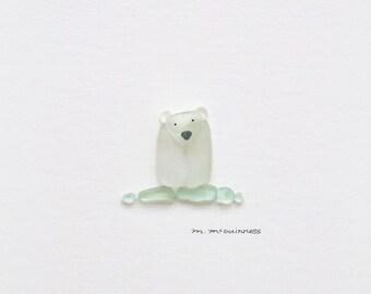 Cute Polar Bear Popsicle Wall Print-A4-A5-Funny Art-Punny Art-Children\u2019s Room Illustration-Nursery-Whimsical-Gift Idea
