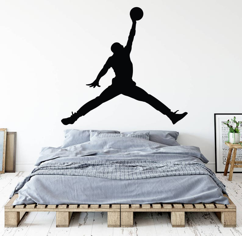 san francisco e5ac5 bab0f Michael Jordan Wall Decal Jumpman Decal Basketball Wall   Etsy