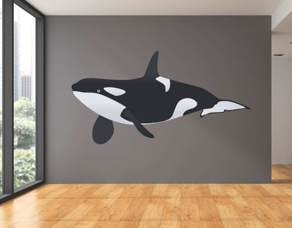 Orca Killer Whale Vinyl Wall Decal Art Decor Etsy