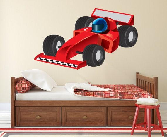Race Car Wall Decal Formula 1 Racing Car Wall Art Kids | Etsy