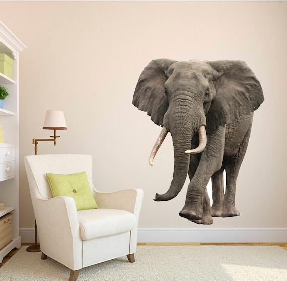 Elephant Wild African Safari Wall Decal Elephant Wall Mural Etsy
