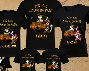 8a3e93e0db241 Disney Pirates family Trip Disney Vacation 2019 Family Disney Pirate Shirts  Mickey Mouse Minnie Mouse Shirt Custom Shirts