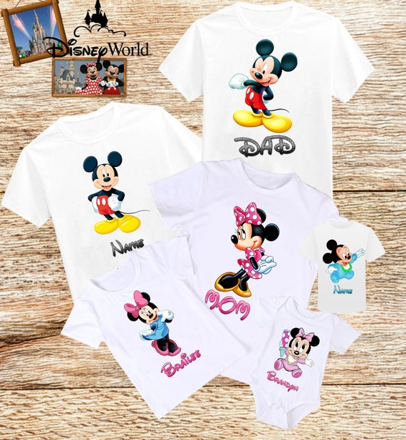 Disney Familie T-Shirts Mickey Mouse Minnie Maus Shirt | Etsy