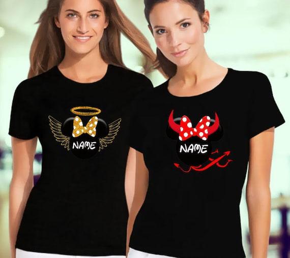 Minnie Mouse Women Shirts Angel And Devil T-Shirts Disney  9e5e6ead15
