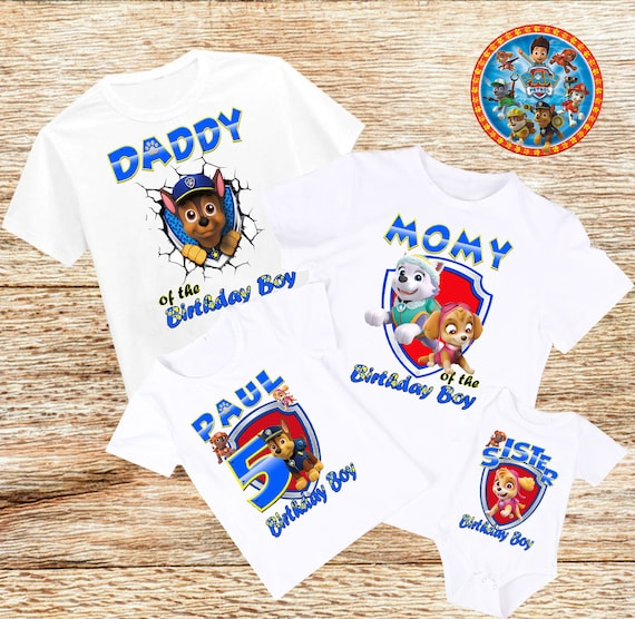 Paw Patrol Birthday Shirt Custom Tops