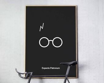 Harry Potter - Minimal Movie Poster - Movie Print - Film Poster