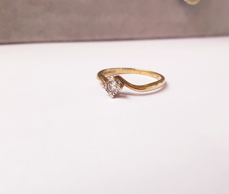 Size P Free Resizing Platinum /& Diamond Engagement Ring Vintage Jewellery. US 8 9ct Gold
