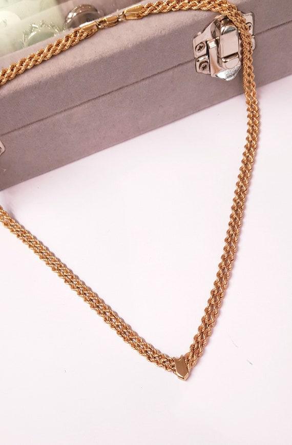 9ct or corde chaîne Chevron collier. longueur de 17