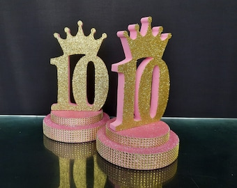 decor for festive table,Sweet 15 Central decor fifteen,Central element on the table Mitzvah Centerpiece number 15 on stand Quinceanera