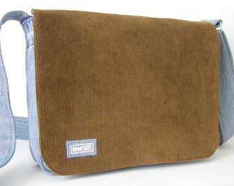 upcycling Shoulder Bag jeans/cord cudory messenger bag