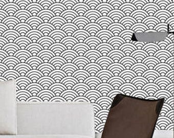 Geometric wallpaper | half moons | Nursery wallpaper | Wall art peel and stick | wall mural | Self Adhesive wallpaper | Peel&Stick | # 103