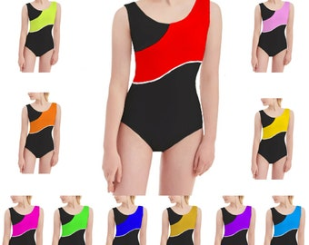 KCRBL Kids Girls Sleeveless COTTON Summer Sport Dance RACERBACK Leotard Bodysuit