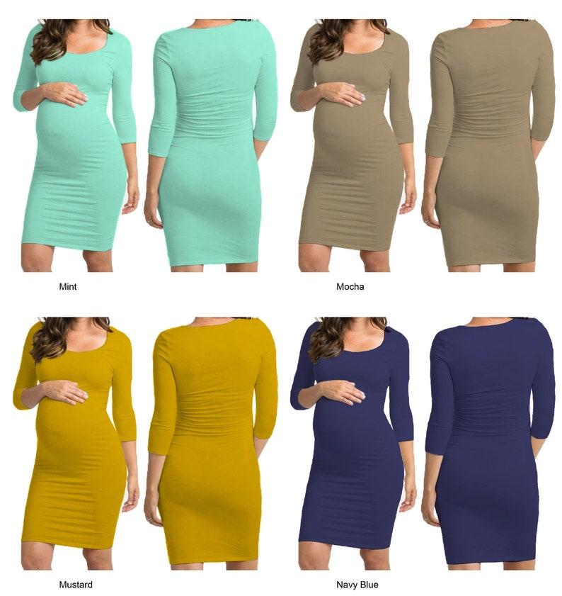 ADM Womens Womens Maternity Long Midi 3/4 Sleeve Pregnancy