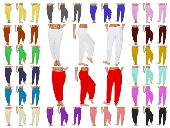 Ladies Womens Baggy Harem Pants Trousers Loose Fit ALI BABA Yoga Leggings 8-26