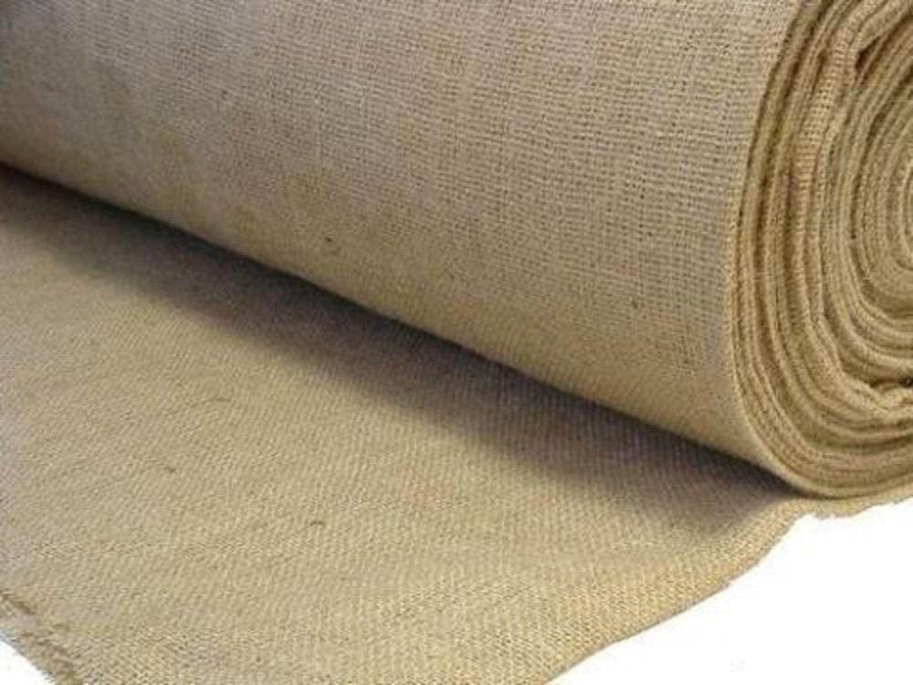 "Craft Sacking Upholstery Wedding 40/"" Wide Natural Jute Hessian Fabric"