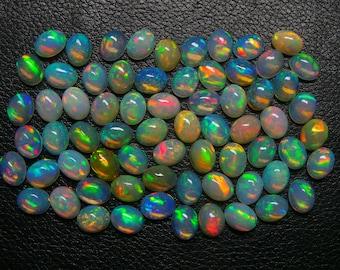 Natural Ethiopian Opal Oval Cabochons Opal Jewelry,Size 11x9 MM Flashy Fire,10 Psc Loose Gemstone.AAA+++Quality Rare Opal Lot Welo Opal