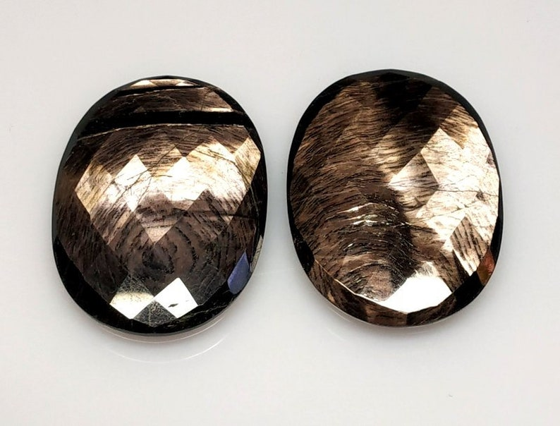 Gorgeous Copper Sapphire Oval Cut Pair Cabochon,Size-36x26 MM,Designer Copper Sapphire Natural Copper Sapphire,LooseGemstoneSmooth Cabochons