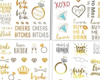 62 Bachelorette party  tattoos includes 24 tattoos for tribe  and 38 styles,favor/Bridesmaid gifts/,bridal party, naughty, metallic