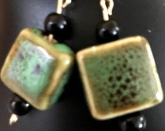 Rustic Green Earrings