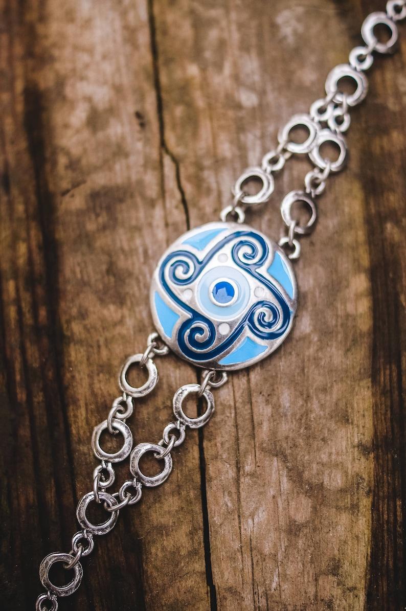 Native ethnic jewelry jewelry wife Ethnic bracelet Boho bracelet Blue aqua Handmade bracelet Silvered bracelet Nautical women bracelet