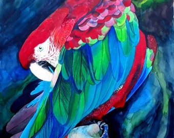Magnificent Bird. Printing on canvas