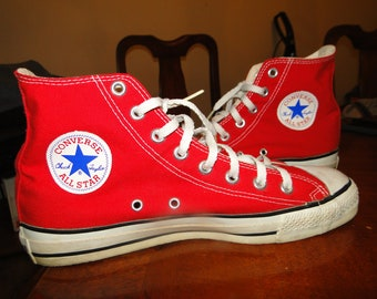 a6e9e2d50af683 Vintage Converse All Star Chuck Taylor red Leather Sz 8 mens