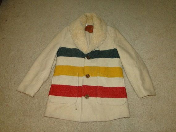 Vintage woolrich HUDSON BAY POINT Stripe Blanket W