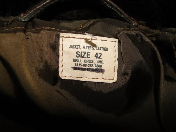 Vintage US Militaria Bomber Jacket Pilot Flight G… - image 4