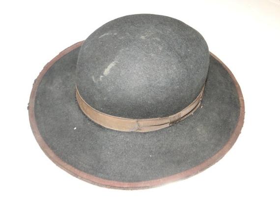Vintage Black Fedora Hat Cowboy Western Hat Sz 6 - image 2